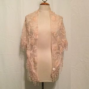 Pale Pink Wrap with Self Roses
